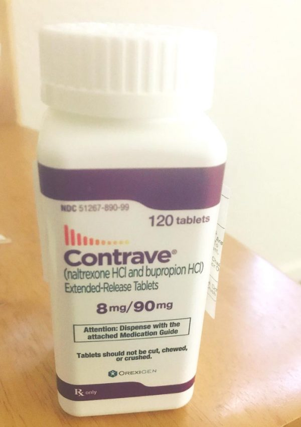 Name: Contrave Dosage: 8mg/90mg Package: 120 Tablets per box