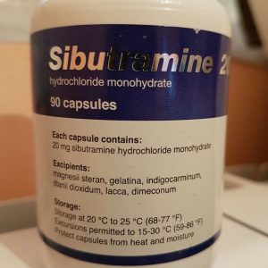 Name: Sibutramine Dosage:20mg Package: 90 Capsules pack